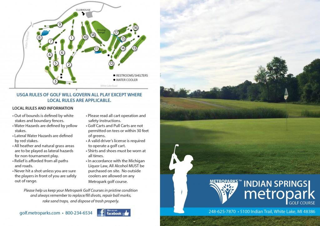 Indian Springs Golf Scorecard