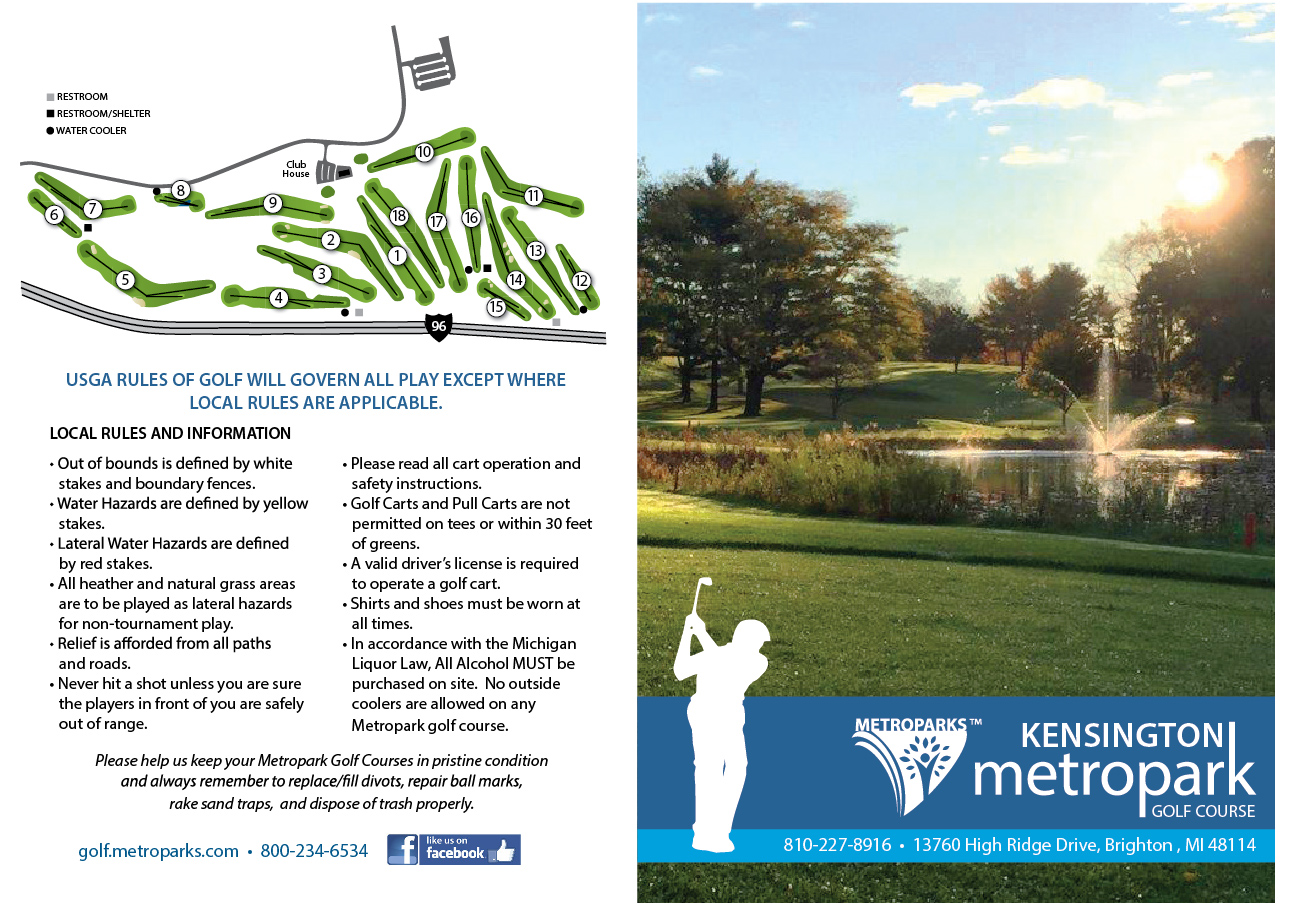 Kensington Golf Scorecard